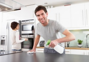 spouse cleaning
